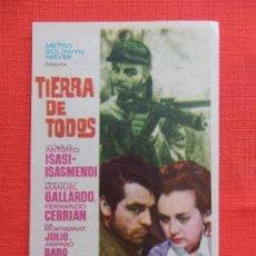 Cine: TIERRA DE TODOS, IMPECABLE SENCILLO, ANTONIO ISASMENDI, CON PUBLI ORFEO CANONGI DE E. Y D.. Lote 127770535