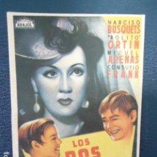 Cine: LOS DOS PILLETES-SENCILLO ARAJOL-DIRECTOR ALFONSO PATIÑO GOMEZ, 1942- IMPECABLE, SIN PUBLICIDAD. Lote 127770795