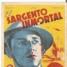 Cine: PROGRAMA CINE. EL SARGENTO INMORTAL. DIBUJO SOLIGÓ. REF. 19-922. Lote 127784351