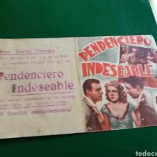 Cine: PROGRAMA DE CINE DOBLE. PENDENCIERO INDESEABLE. GRAN TEATRO CINEMA. Lote 127819147