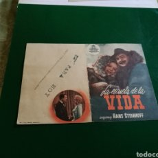 Cine: PROGRAMA DE CINE DOBLE. LA DAMA DE LA VIDA. Lote 127819282