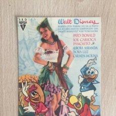 Cine: PROGRAMA DE MANO. LOS TRES CABALLEROS. WALT DISNEY. CINE.. Lote 127862194