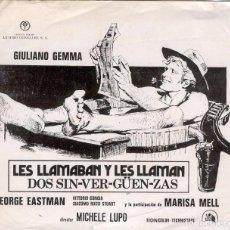 Cine: FOLLETO DE CINE LOCAL DE LA PELICULA - LES LLAMABAN Y LES LLAMAN - DOS SIN-VER-GUEN-ZAS. Lote 127874639