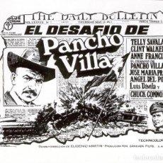 Cine: FOLLETO DE CINE LOCAL DE LA PELICULA - EL DESAFIO DE PANCHO VILLA - (SIN CINE IMPRESO POR DETRÁS). Lote 127875007