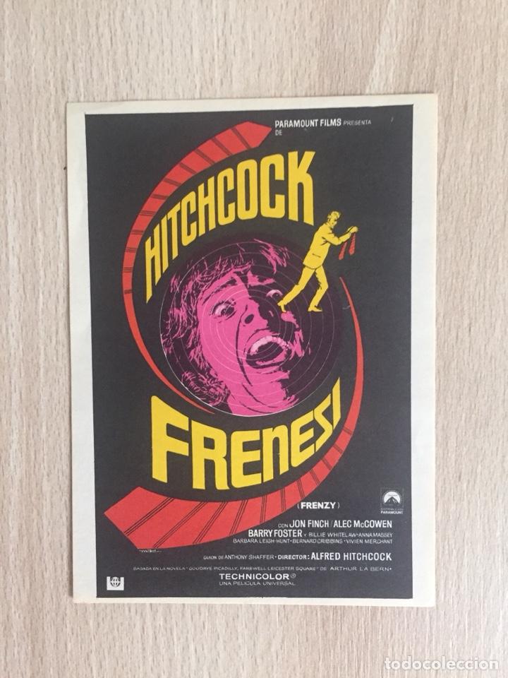PROGRAMA DE MANO. CINE. A. HITCHCOCK. FRENESÍ. (Cine - Folletos de Mano - Suspense)