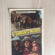 Cine: PROGRAMA DE MANO. CINE. J. FORD. EL SARGENTO NEGRO.. Lote 127927535