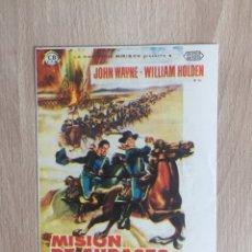 Cine: PROGRAMA DE MANO. CINE. J. FORD. MISIÓN DE AUDACES. J. WAYNE. WESTERN.. Lote 127928764