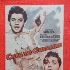 Cine: CAFE DE CHINITAS, DOBLE CANCIONERO, ANTONIO MOLINA RAFAEL MOLINA, C/PUBLI C. ORIENTE DE VERANO. Lote 127945199