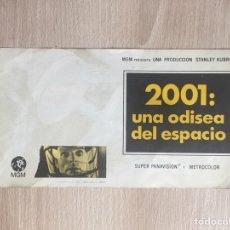 Cine: PROGRAMA DE MANO DOBLE. CINE. S. KUBRICK. 2001, UNA ODISEA DEL ESPACIO.. Lote 127995602