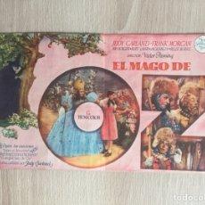 Folhetos de mão de filmes antigos de cinema: PROGRAMA DE MANO DOBLE. CINE. EL MAGO DE OZ.. Lote 127997327