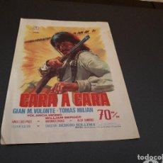 Cine: PROGRAMA DE MANO ORIG - CARA A CARA - CINE DE ENGUERA . Lote 128033563