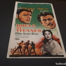 Cine: PROGRAMA DE MANO ORIG - DUELO DE TITANES - CINE DE ALCIRA . Lote 128033715