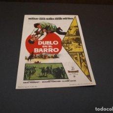 Cine: PROGRAMA DE MANO ORIG - DUELO EN EL BARRO - CINE DE SANTANDER . Lote 128033855
