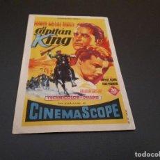 Cine: PROGRAMA DE MANO ORIG - EL CAPITAN KING - CINE DE ALICANTE . Lote 128033987