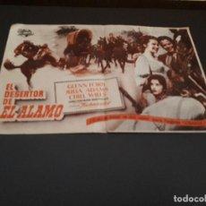 Cine: PROGRAMA DE MANO ORIG - EL DESERTOR DEL ALAMO - CINE DE BARCO DE VALDEORRAS . Lote 128034267