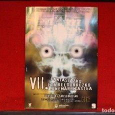 Cine: FOLLETO DEL VII FANTASIAZKO ETA BELDURREZKO ZINEMAREN 1996. Lote 128044503