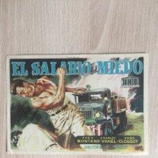 Cine: PROGRAMA DE MANO. CINE. EL SALARIO DEL MIEDO.. Lote 128054170