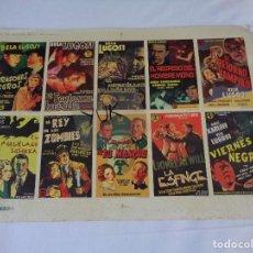 Cine: PRUEBA DE IMPRENTA DE 10 ANTIGUOS PROGRAMAS DE CINE EN CARTON --- LUGO COLOR 1998. Lote 128103279