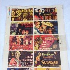 Cine: PRUEBA DE IMPRENTA DE 10 ANTIGUOS PROGRAMAS DE CINE EN CARTON --- FILMAR 1999. Lote 128103511