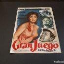 Cine: PROGRAMA DE MANO ORIG - EL GRAN JUEGO- CINE DE CALLOSA. Lote 128135291
