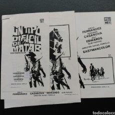 Cine: 3 CLISES DE PRENSA, UN TIPO DIFÍCIL DE MATAR, EMILIO FERNÁNDEZ. Lote 128180371