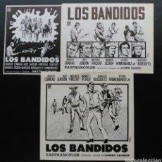 Cine: 3 CLISES PARA PRENSA, LOS BANDIDOS, CON CUÑOS DE. Lote 128181354