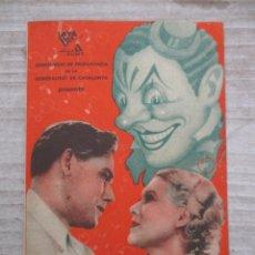 Cine: EL CIRC FILM SOVIETICO COMISSARIAT GENERALITAT DE CATALUNYA PROGRAMA DOBLE AÑOS 30 RARO. Lote 128204371