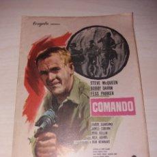 Cine: FOLLETO DE MANO COMANDO - STEVE MCQUEEN. Lote 128228220