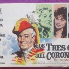 Cine: LOTE 100 PROGRAMAS DE MANO, LOS TRES ETC... DEL CORONEL, PROGRAMA CINE, IGUALES, L2. Lote 128267207