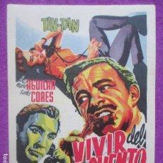 Cine: LOTE 43 PROGRAMAS DE MANO, VIVIR DEL CUENTO, PROGRAMA CINE, IGUALES, L3. Lote 128268795