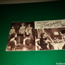 Cine: PROGRAMA DE CINE CARTÓN. 1936. LA LEGIÓN BLANCA. TEATRO MARÍA LUISA DE MÉRIDA. AÑOS 30. Lote 128297964