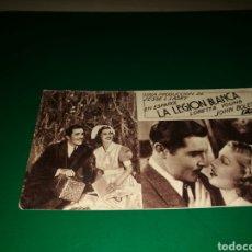 Cine: PROGRAMA DE CINE CARTÓN. 1936. LA LEGIÓN BLANCA. TEATRO MARÍA LUISA DE MÉRIDA. AÑOS 30. Lote 128297988