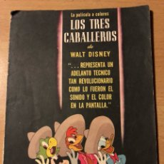 Cine: PROGRAMA WALT DISNEY LOS TRES CABALLEROS. Lote 128298951