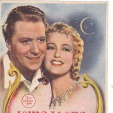 Cine: LUNA LLENA CON JEANETTE MAC DONALD, NELSON EDDY AÑO 1946 EN CINEMAS PRINCIPAL Y LA RAMBLA. Lote 128321979