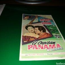 Cine: PROGRAMA DE CINE AÑOS 50. EL CAPITÁN PANAMÁ. Lote 128335114