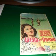 Cine: PROGRAMA DE CINE AÑOS 50. LA ISLA DEL DESEO. Lote 128335266