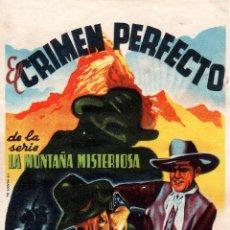 Cine: PROGRAMA DE CINE S/P. EL CRIMEN PERFECTO.. Lote 128335295