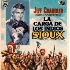 Cine: PROGRAMA DE CINE S/P. LA CARGA DE LOS INDIOS SIOUX.. Lote 128335435