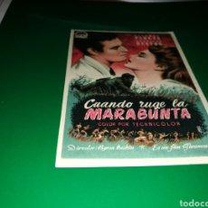 Cine: PROGRAMA DE CINE AÑOS 50. CUANDO RUGE LA MARABUNTA. Lote 128339531