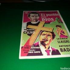 Cine: PROGRAMA DE CINE AÑOS 50. EL PUEBLO SIN DIOS. Lote 128339684