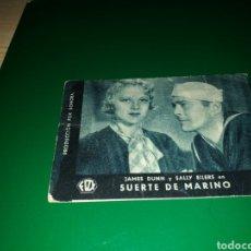 Cine: PROGRAMA DE CINE CARTÓN. SUERTE DE MARINO. AÑOS 30. Lote 128340212