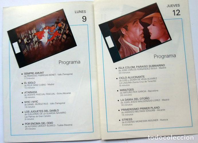 Cine: Tríptico I Bienal Cajalicante cine amateur de libre creación Caja ahorros provincial Alicante 1987 - Foto 2 - 128340407