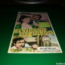 Cine: PROGRAMA DE CINE ANTIGUO. EL TIRANO DE TOLEDO. Lote 128342052