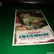 Cine: PROGRAMA DE CINE ANTIGUO. TEMPESTAD EN LA NIEVE. Lote 128342087