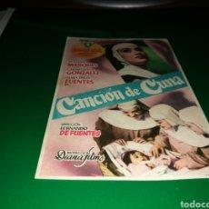 Cine: PROGRAMA DE CINE ANTIGUO. CANCIÓN DE CUNA. Lote 128342200
