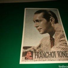 Cine: PROGRAMA DE CINE. AÑOS 30. FRANCHOT TONE. Lote 128350136