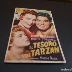 Cine: PROGRAMA DE MANO ORIG - EL TESORO DE TARZAN - CINE DE VALENCIA . Lote 128367747