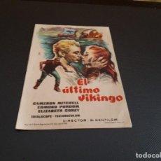 Cine: PROGRAMA DE MANO ORIG - EL ULTIMO VIKINGO - CINE DE ORIHUELA . Lote 128368171