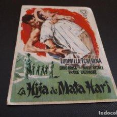 Cine: PROGRAMA DE MANO ORIG - LA HIJA DE MATA HARI - CINE SALA ASTORIA . Lote 128368587