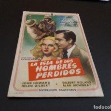 Cine: PROGRAMA DE MANO ORIG - LA ISLA DE LOS HOMBRES PERDIDOS - CINE DE LIRIA . Lote 128368879